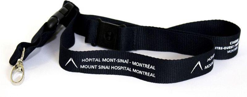 Lanière - bleu marin - Mont-Sinai + CIUSSS - 3$