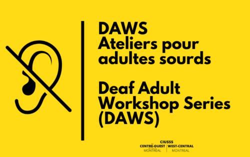 Ateliers pour les adultes sourds DAWS