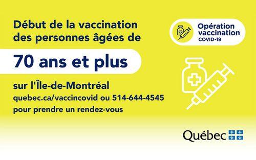 Vaccination COVID-19, 70 ans et plus