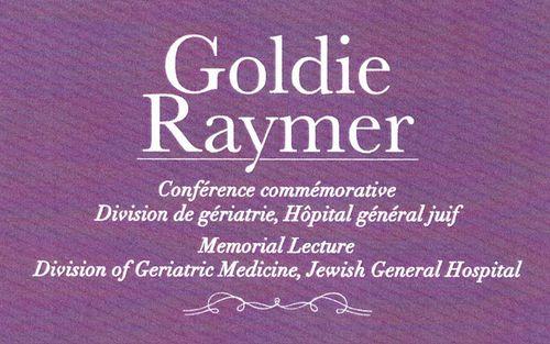 Conférence commémorative - Goldie Raymer