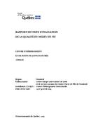 Rapport de visite d'évaluation de la qualité du milieu de vie - Centre d'hébergement Henri-Bradet - 2019