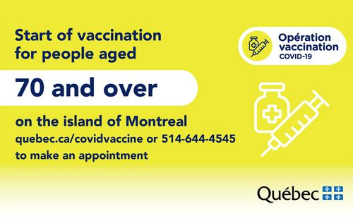 COVID-19 vaccination , 70 years and over