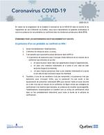 Consignes pour les gestionnaires des établissements et des RPA 2020-03-21