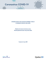 Informations en situation de pandémie COVID-19 en résidence privée - 2020-03-12 pour aînés