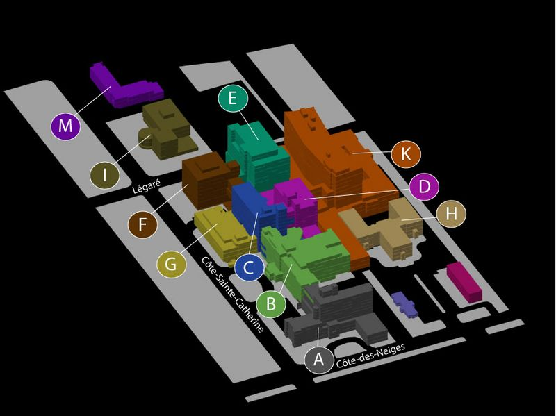 Plan de l'HGJ - Pavillons