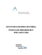 Welcome Guide - Pulmonary Rehabilitation