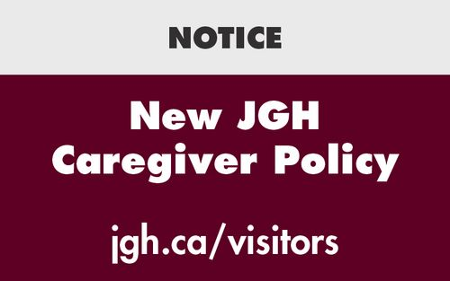New JGH Caregiver Policy