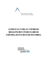 Guide d'accueil - Réadaptation pulmonaire