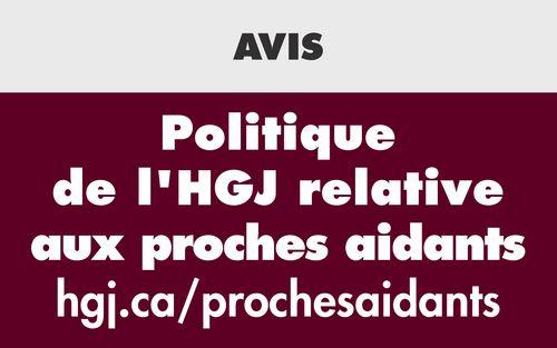 Politique de l'HGJ relative aux proches aidants