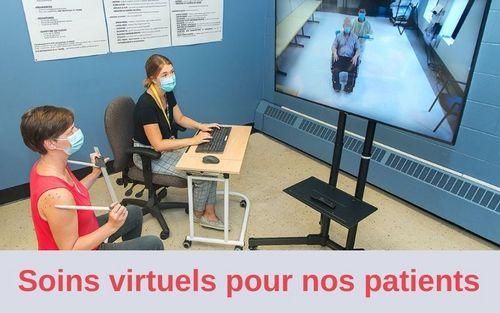 Soins virtuels pour patients