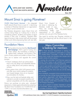Mount Sinai Newsletter - Winter 2018