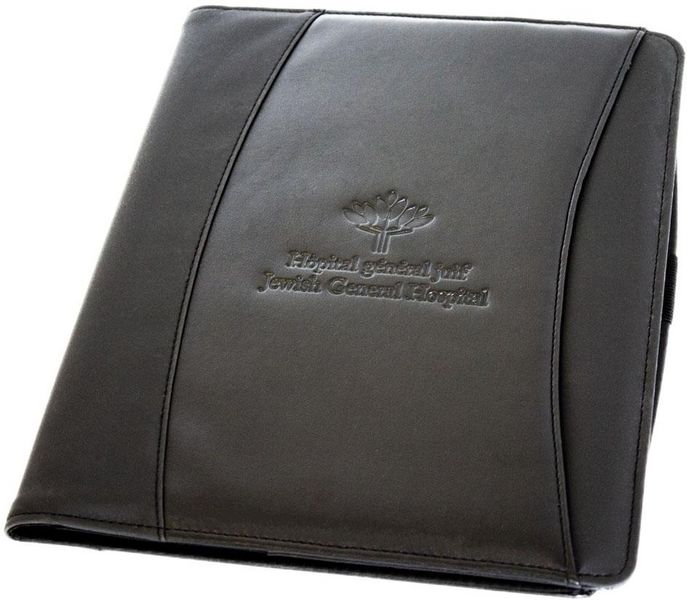 Porte-documents avec bloc notes - noir - HGJ - 15$