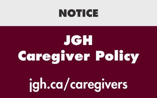 JGH Caregiver policy