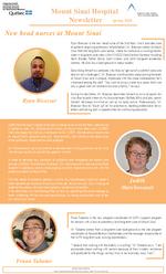 Mount Sinai Newsletter - Spring 2018