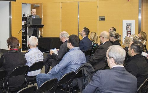 Dr. Lawrence Rosenberg, President and CEO, at the fourth annual Public Information Meeting of CIUSSS West-Central Montreal