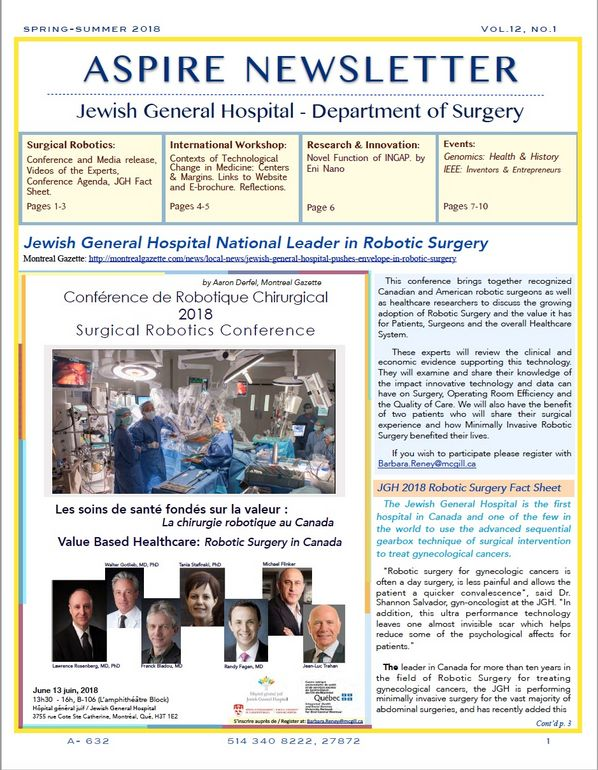 Jewish General Hospital | Aspire Newsletter