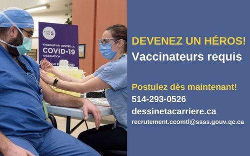 Devenez un héros! Vaccinateurs requis!