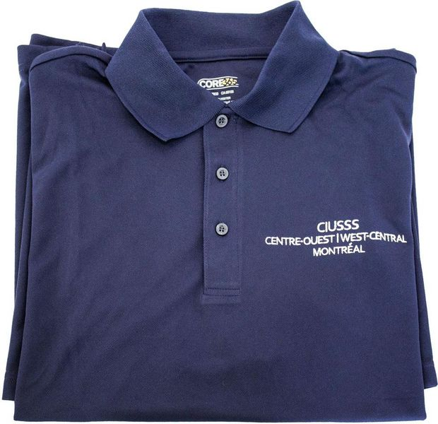 Polo sport - bleu marin - CIUSSS - 22$