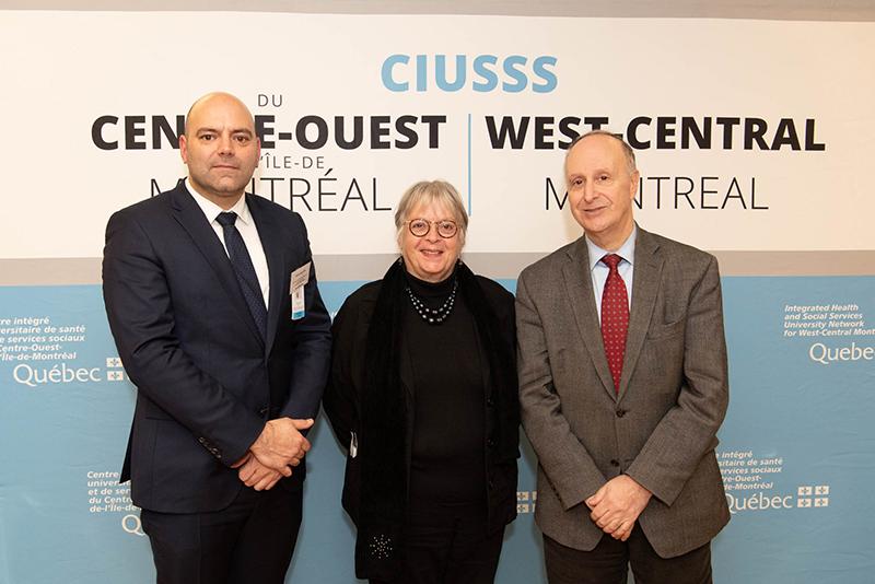 Sébastien Blin, Francine Dupuis, Dr. Lawrence Rosenberg