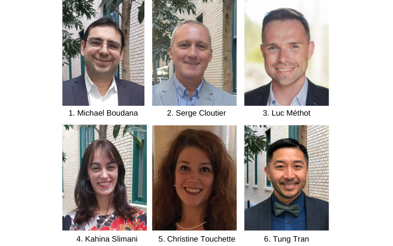 Michael Boudana,Serge Cloutier,Luc Méthot,Kahina Slimani, Christine Touchette, Ngo Thanh Tung Tran