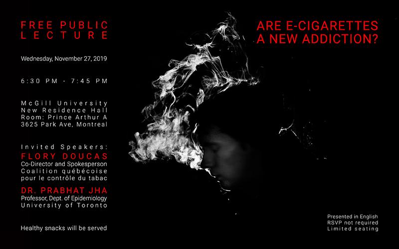 Free public lecture: Are E-cigarettes a new addiction?