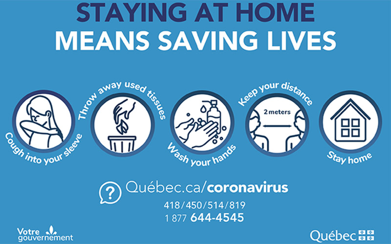 Staying at home means saving lives!