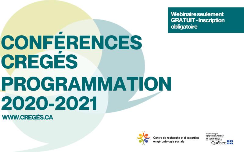 Conférences CREGÉS programmation 2020-2021!