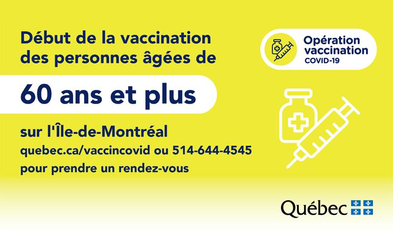 Vaccination COVID-19, 60 ans et plus