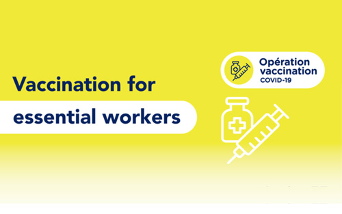 Vaccination for essential workers